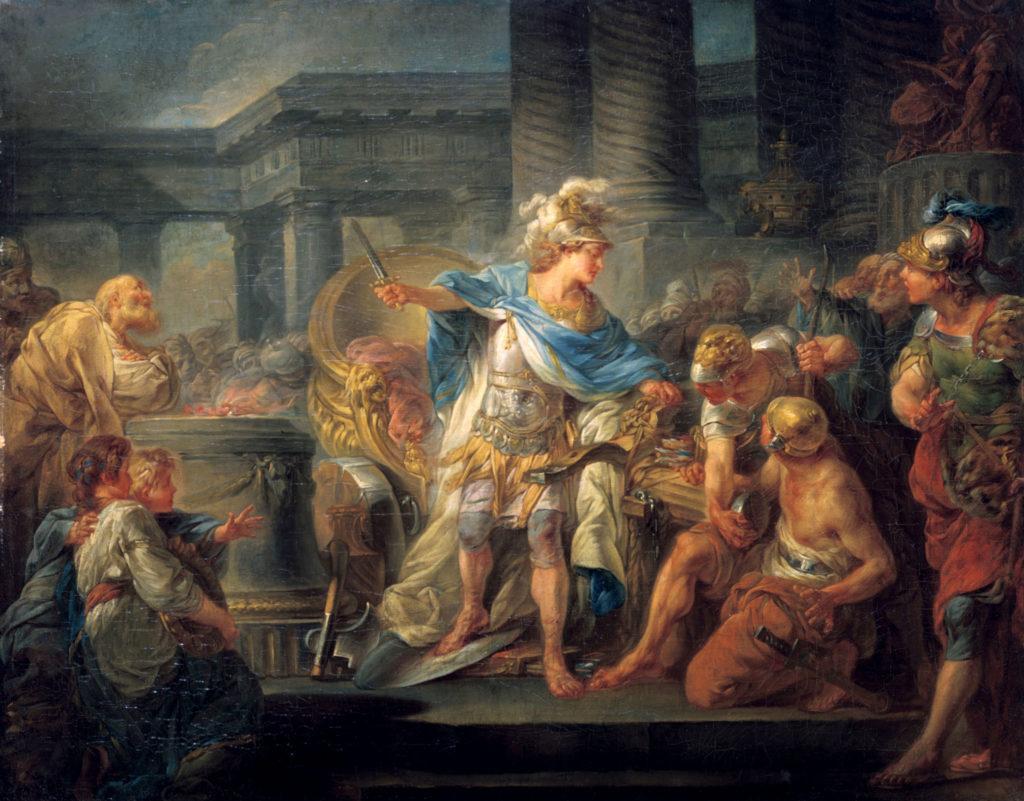 Alexandre qui tranche le Noeud Gordien